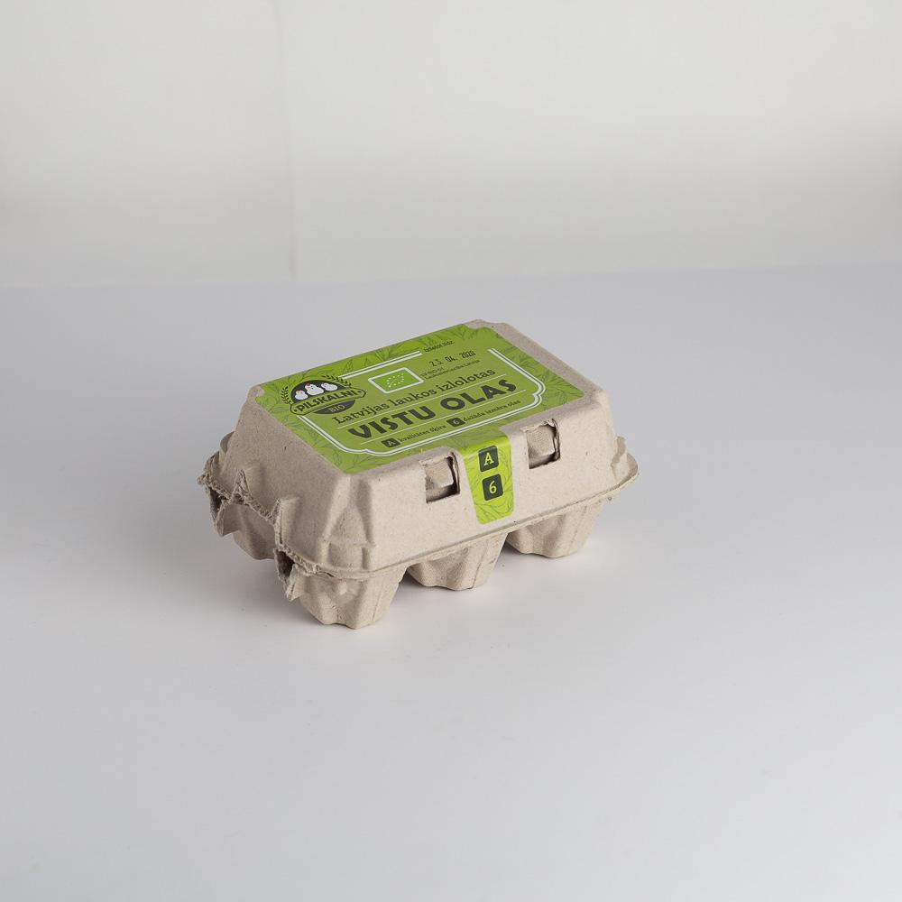 BIO Mājas vistu olas 6 gab