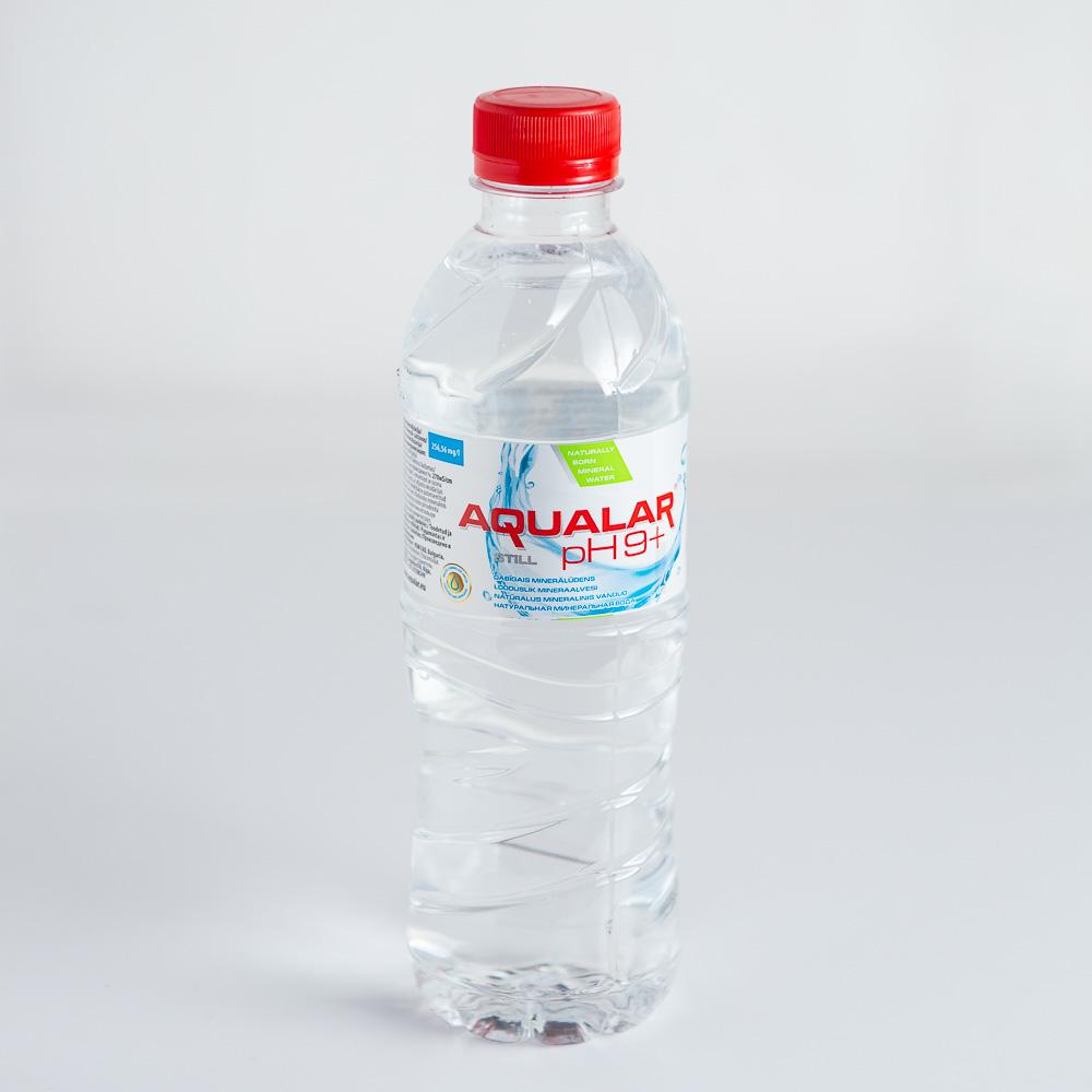 """Dabīgs minerālūdens """"AQUALAR Ph9+"""" 0.5L"""