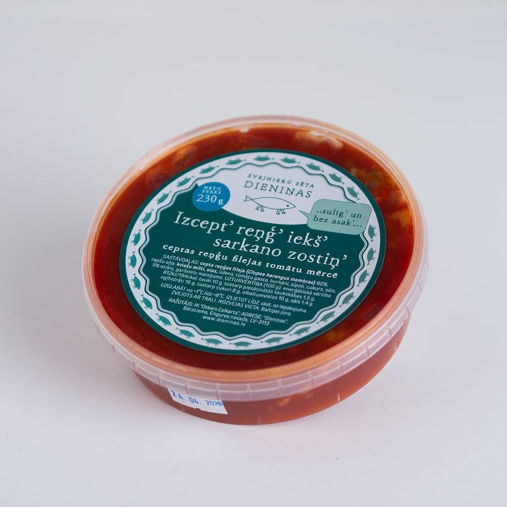 Ceptas reņģu filejas tomātu mērcē 250g