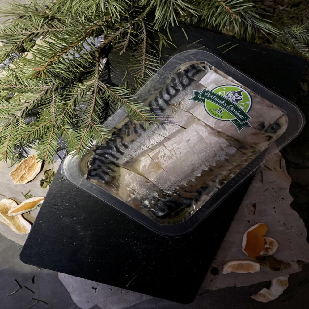 Mazsālītas makreles filejas gabaliņi eļļā 300g